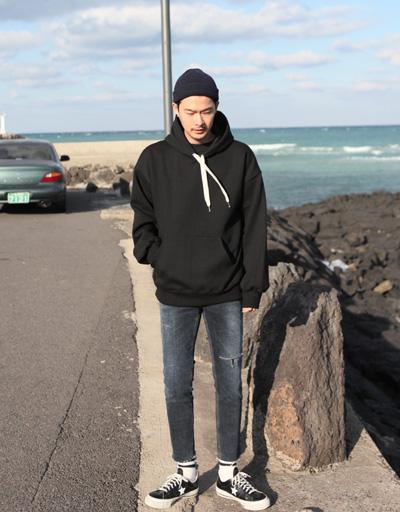 (블랙)락커룸 치어스 양기모 후드티셔츠
